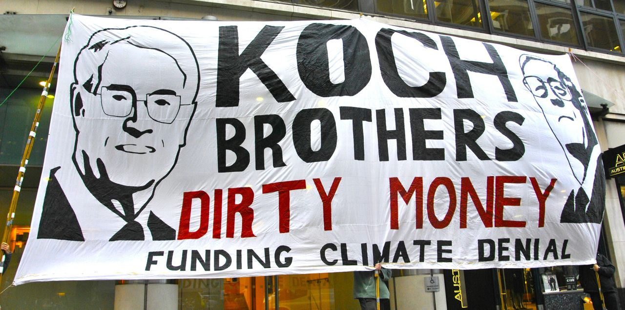 us election demo against fossil fuel money in us politics a dominant factor in all this has been the power of special interests and the corporate funding of climate denial along extremist right wing politics