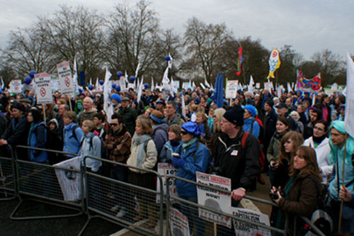 Crowd at Speakers Corner