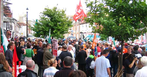 Rally in Newport, Isle of Wight, Wednesday 29th